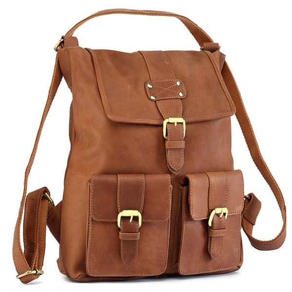Zunash Nomad Leather Backpack