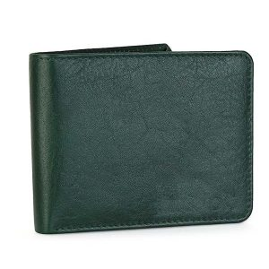 Zunash Men's Genuine Leather Wallet (Green)