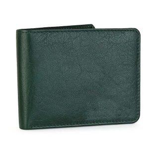 Zunash Men's Genuine Leather Wallet (Green)