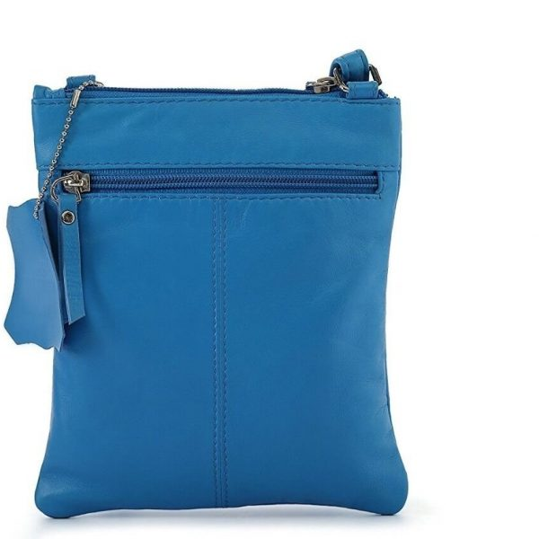 zunash indigo blue leather bag