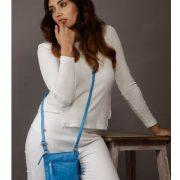Zunash leather Indigo Bag Blue