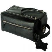 zunash leather black Toiletry Bag