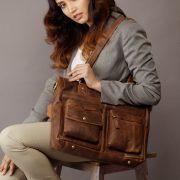 zunash Noha leather ladies handbag