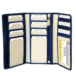 zunash leather blue cardholder