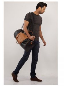 zunash leather duffel bag
