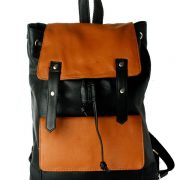Zunash leather double colour backpack