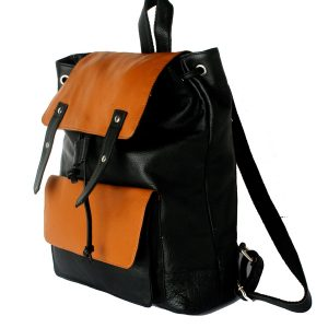 zunash leather backpack black brown