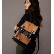 zunash unisex leather backpack