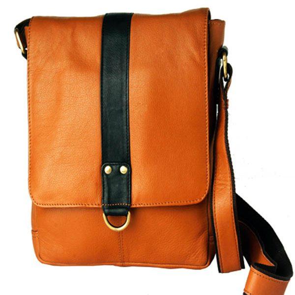 zunash leather slide sling bag