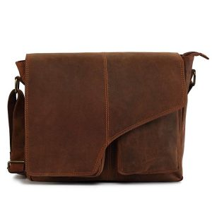 Zunash Tommy Leather Ta Messenger Bag