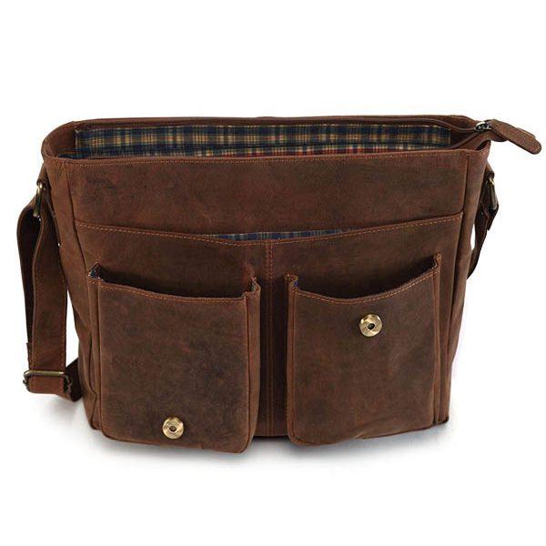 Zunash Tommy Leather Ta Messenger Bag