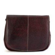 Zunash leather Airhostess Bag Marron