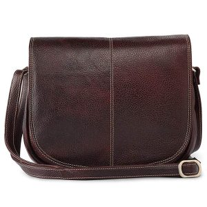 Zunash leather Airhostess Bag Marron