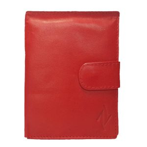 Zunash Leather Red Ladies Wallet