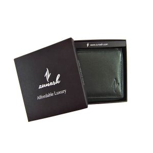 Zunash Leather Zipper Wallet Black