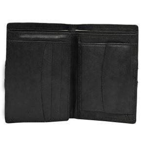 Zunash Tom Leather Wallet Red Strip