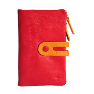 Zunash Esmee Leather Clutch