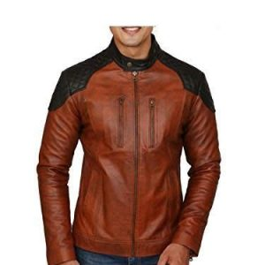 Zunash Leather Jacket Black Shoulder