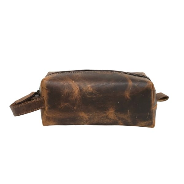Zunash Leather Toiletry Bag