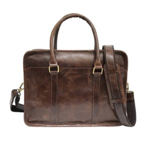 Zunash Leather Porfolio Bag Brown