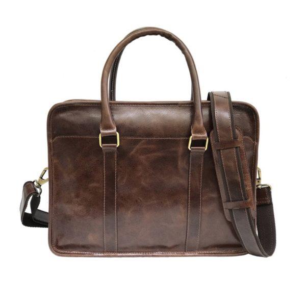 Zunash Leather Porfolio Bag Brown