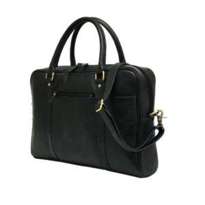 Zunash Triber Leather laptop bag ZBG-0109-M-BK