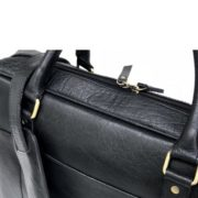 Zunash Leather laptop bag  ZBG-0109-M-BK-1