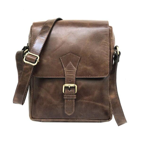 Zunash Leather-Messenger-Sling-ZSB-0127-U-BN