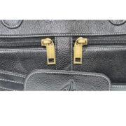 ZunashEsteemstud Leather Office Bag -Black