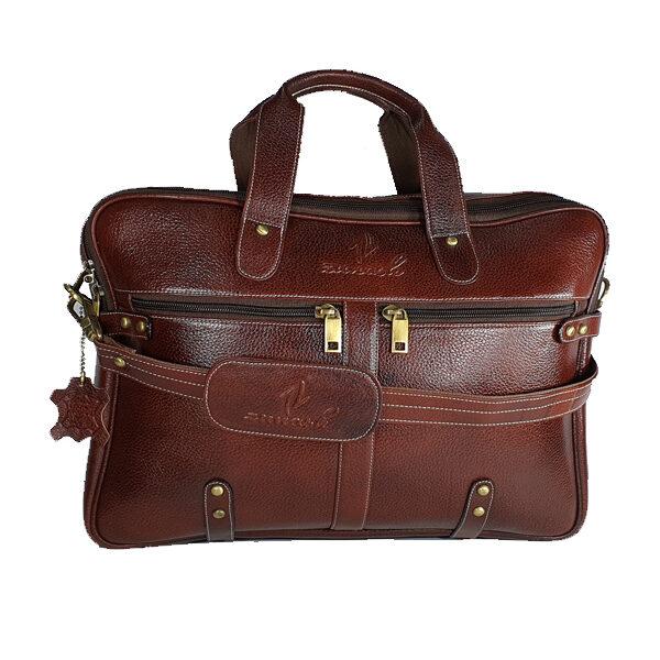 Zunash Leather esteemstudd Office Bag