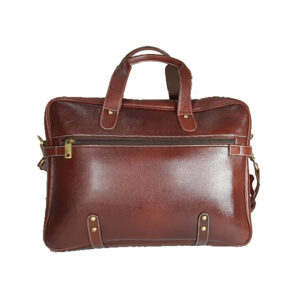 zunash leather estemstud office bag brown