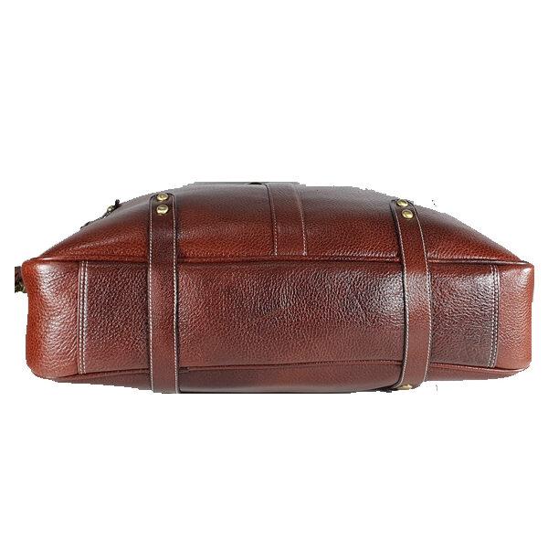 zunash leather estemstud office bag brown
