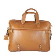 Zunash Leather Office Bag Esteem Tan
