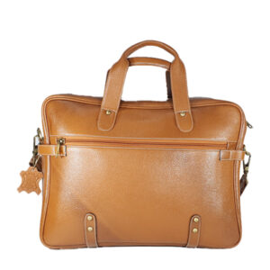Zunash Leather Office Bag Esteem Tan